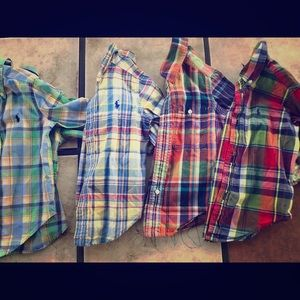 Boys 2t Ralph Lauren button downs